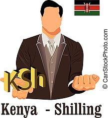 national, schilling, währung, kenia, kenianer, symbol