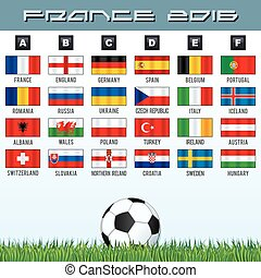 National Soccer Flags. Ready for your Design.
