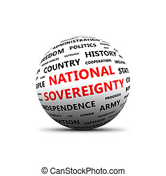 National sovereignty. 3D sphere - 3D sphere with words on ...
