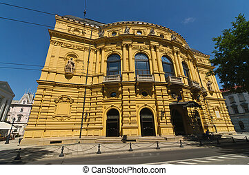 National Theater of Szeged - Facade of the National Theater...