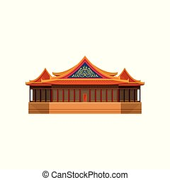 National theater of Taiwan. Asian architecture theme. Famous...