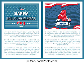 National US Holiday Poster 4 July Independence Day