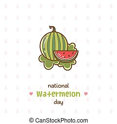 National Watermelon Day. Vector Illustration.