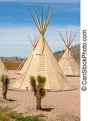 National wigwam of American Indians. Outdoor photography in...