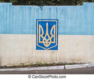 National yellow-blue flag of Ukraine