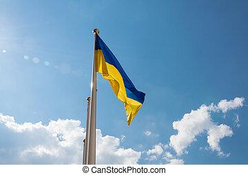National yellow - blue flag of Ukraine