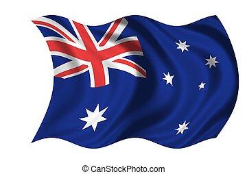 nationale, australië vlag