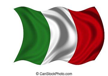 nationale, italië vlag