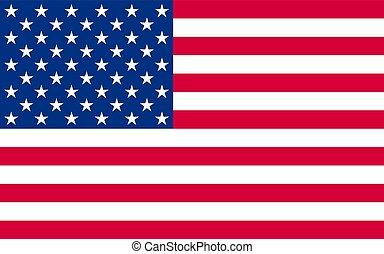 nationale, officieel, politiek, vlag, ons