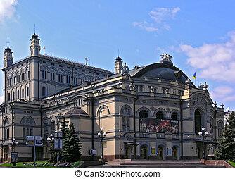 nationale, opera-house, van, oekraïne