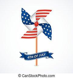 nationale, pinwheel, kleuren, vlag