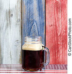 nationale, raad, usa, houten, bier, geverfde, enkel, langzaam verdwenen, kleuren