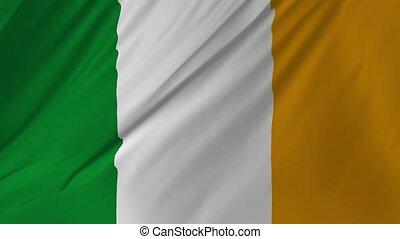 nationales kennzeichen, von, irland, seamless, schlingen,...