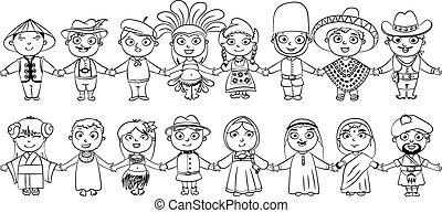 Nationalities. Tahitian, Englishman, Chinese, Japanese,...