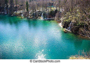 nationalpark, plitvice, in, kroatien