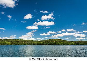 nationalpark, see, in, sommer