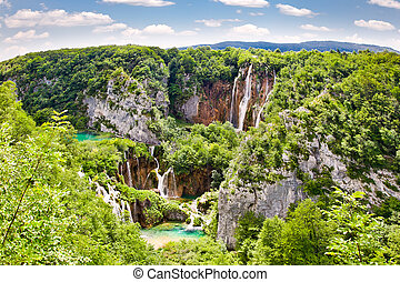"nationalpark, wasserfälle, ""plitvice, lakes"", croatia."