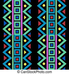 Colourful Line Pattern On Black Abstract Dimension Background