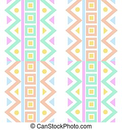 Native abstract pattern on white background