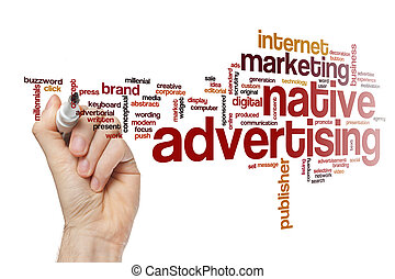 Native advertising word cloud concept