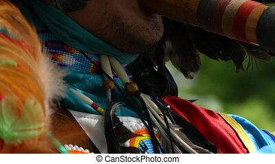 Native american artist street performance - Backgound...