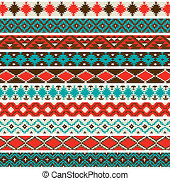Native American Border Patterns - A collection of 10 ...