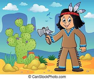 Native American boy theme image 2
