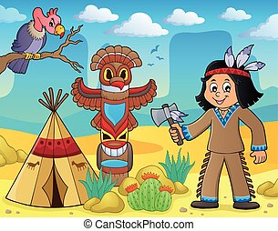 Native American boy theme image 3