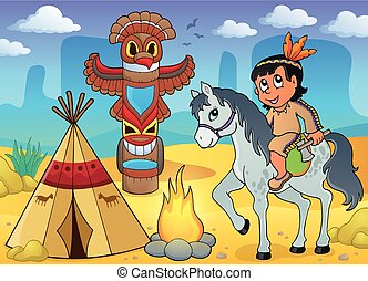 Native American boy theme image 4