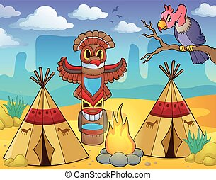 Native American campsite theme image 2