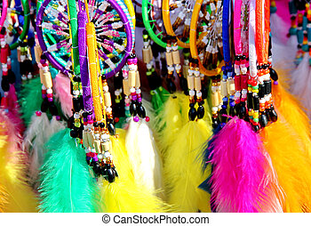 colorful dreamcatchers - Native American colorful...