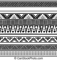Native American doodle. Textile print with Navajo tribal ornament. Hipster black Ink art work. Aztec vector illustration.  Ethnic Hand Drawn seamless pattern with American Indian motifs.
