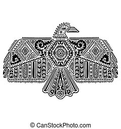 Native American eagle illustration - Vintage native American...