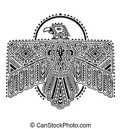Native American eagle illustration - Vintage native American...