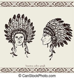Native American Head