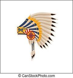 Native American Headdress Pattern Vector Icon