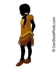 Native American Indian Art Illustration Silhouette - Native...
