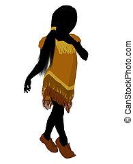 Native American Indian Art Illustration Silhouette