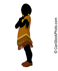 Native American Indian Art Illustration Silhouette