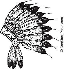 indian chief headdress - native american indian chief...