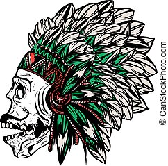 native american indian chief headdr