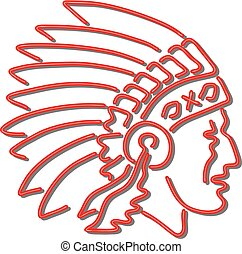 Native American Indian Chief Neon Sign