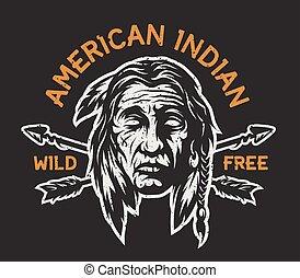 Native american indian head.