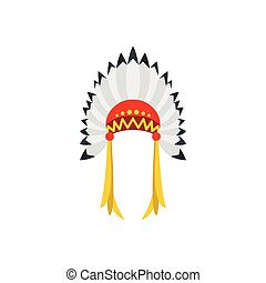 Native American indian headdress icon
