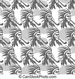 Native american indian seamless pattern
