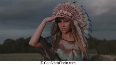 Native American Indian woman - Native American Indian...