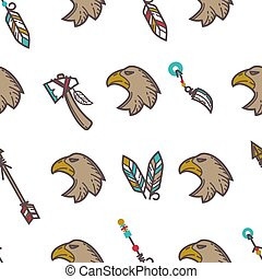 Native American Indians traditional culture symbols pattern...