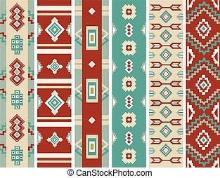 Native American Navajo Borders Illustration - Illustration...