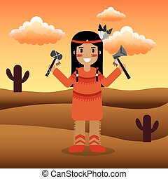 native american people cartoon