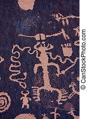 Native American Petroglyphs, Newspaper Rock, Utah